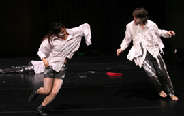 Stage photograph of Japan Contemporary Dance Network