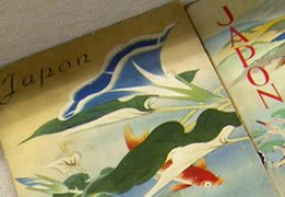 Photo of guidebooks on Japan published from Meiji to early Showa period 1