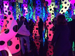 Photo of artwork by Yayoi Kusama