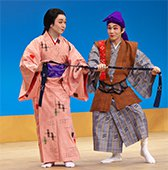 Photo 1: Ryukyu performing arts shown on stage