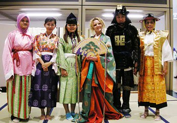 Dressing in traditional costumes